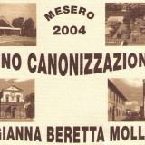 Collezione cartoline anniversario beatificazione di Santa Gianna